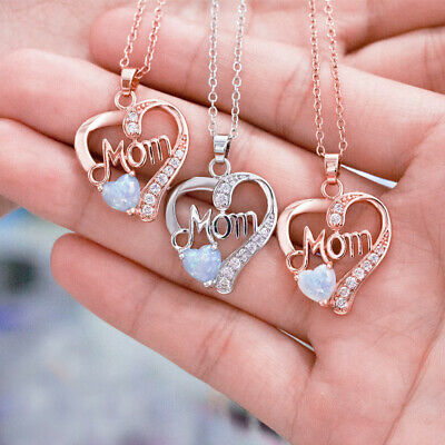 Women Ladies Mom Pendant Necklace Gift for Mother Daughter Grandmother Jewelry