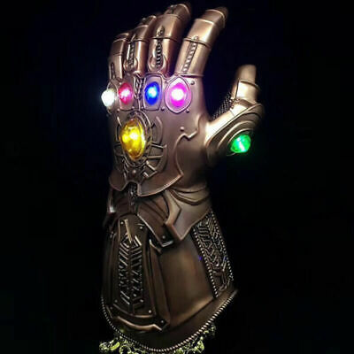 Figure & LED Light Thanos Infinity Gauntlet Marvel Legends Gloves Avengers US