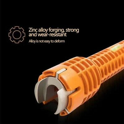 Faucet and Sink Installer Install Tool Kitchen Bathroom Orange Durable