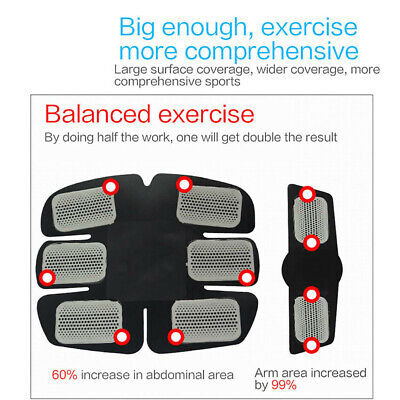 USB Rechargable Fitness Abdominal Muscle Trainer ABS Stimulator Toner LOT 4 In1
