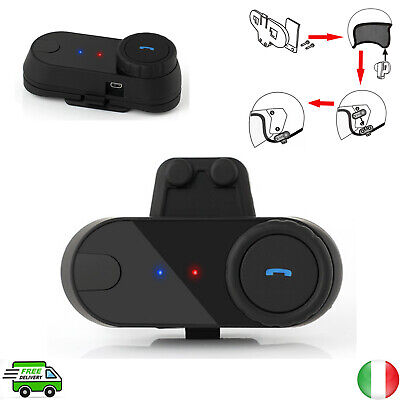 Auricolare Bluetooth / interfono Bluetooth per Casco da moto distanza 800 metri