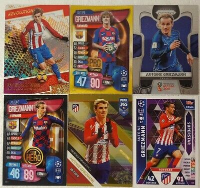 Topps MATCH ATTAX Card Lot  ANTOINE GRIEZMANN Athletico Madrid / FRANCE / UCL