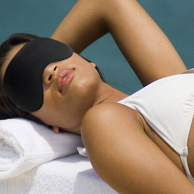 Travel 3D Eye Mask Sleep Soft Padded Shade Cover Relax Sleeping Aid Blindfold Bs