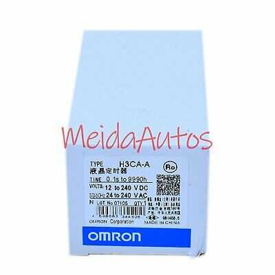New in box Omron Timer H3CA-A H3CAA 24-240VAC/VDC One year warranty &MA