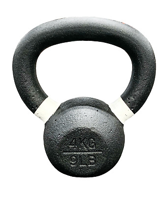 Strencor EKG Kettlebell Black Cast Iron Color-Coded - 4 kg (9 lbs)