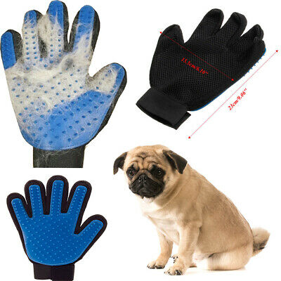 Cleaning Brush Magic Glove Pet Dog Massage Hair Removal Grooming Groomer 1 Pair