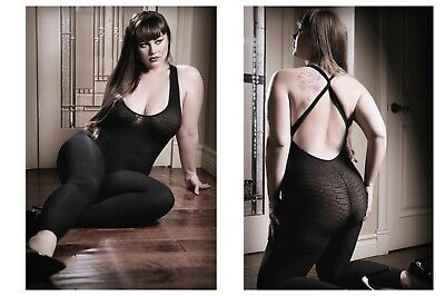 VIVACE LONG SLEEVE SHEER /& OPAQUE BODYSTOCKING CROTCHLESS BURGUNDY OS /& QUEEN