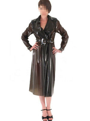 Latex Catsuit Rubber Gummi Female Fetish Transparent Wind Coat Customized 0.4mm