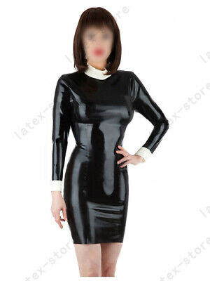 Latex Catsuit Rubber Gummi Female Fetish Lady Dresses Leotard Customized 0.4mm