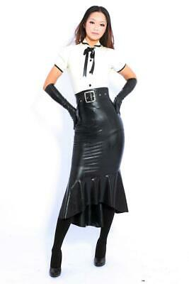Latex Catsuit Rubber Gummi Lady Short Sleeve Dresses One-Piece Customized 0.4mm