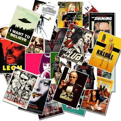 25pcs Classic Movie Stickers for Luggage Laptop Art Painting Poster Stickers Toy