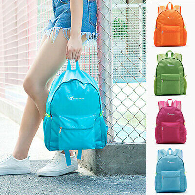 US Women Waterproof Nylon Bag Backpack Travel Outdoor Camping Cycling Rucksack