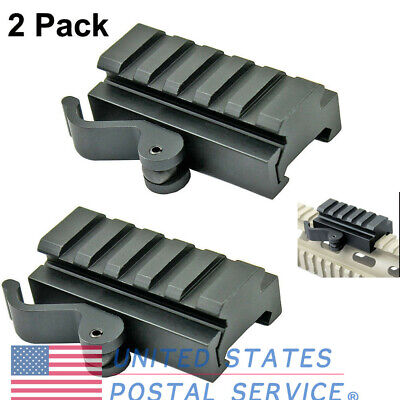 2pcs Low Profile Picatinny Riser Mount Quick Release For Red Dots Scopes Hunting