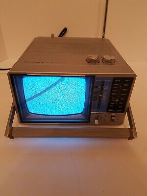 Lloyd's TV - FM/AM Radio Portable Vintage TV Power Cord Owner's Manual Included