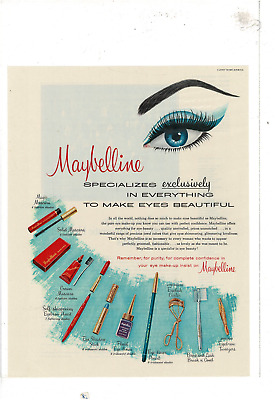 1968 Vintage Jacqueline Cochran Eye Make-up Lipstick Cosmetic Ad Low Price Advertising Collectables