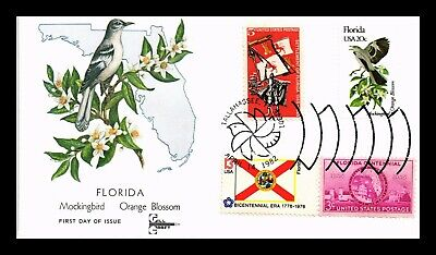 DR JIM STAMPS Us Florida State Bird Flower Combination Gill Craft Fdc Cover