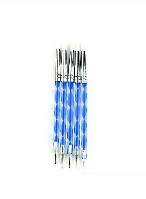 5 X 2 Way Pottery Clay Ball Styluses Nail Art Tool Polymer Clay Sculpture Too_TI