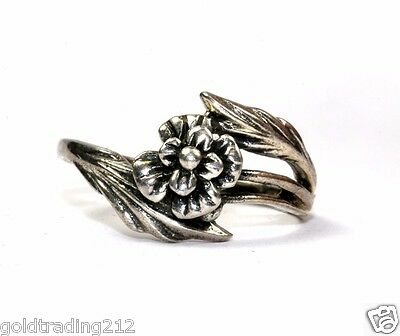925 Sterling Vintage Floral Flower Shaped Ring Size 7 Rg 1710