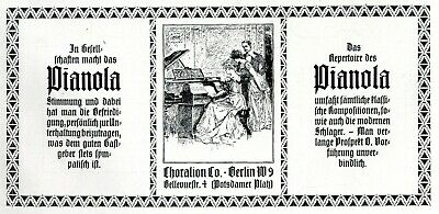Collectibles Shop For Cheap Self Playing Piano Phonola German Ad 1907 Hupfeld Leipzig Richard Wagner 1900-09