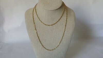 "Vintage 14k Yellow Gold Fancy Link 36"" Necklace Fine Jewelry Estate Find"