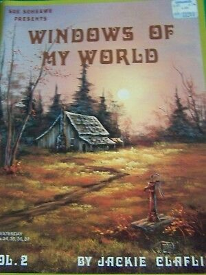 Windows Of My World V2 Jackie Claflin 1987 Oil  Scheewe Landscapes Paint Book