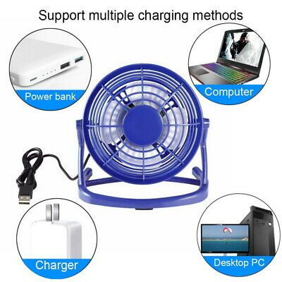 USA HOT 4 Inch Mini USB Desk Fan Portable Fan 360° Up and Down for Home Office