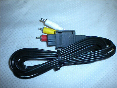Official Video Game Cube AV Cable OEM RCA Cord SNES Super Nintendo 64 N64
