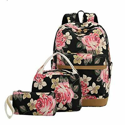 "Backpack Bookbags Set, 15"" Women Laptop Bag + Lunch Tote Bag"