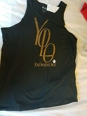 YOLO You Only Live Once Cool T-shirt Vest Tank Top Men Women Unisex 2203