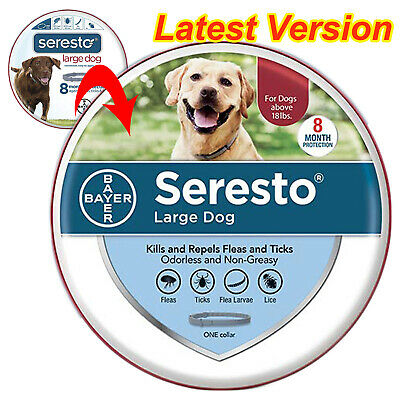 1 packing Seresto flea and tick collar for dogs, 8 month prevention