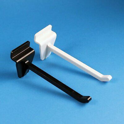 Slatwall Single Prong Plastic Merchandising Hook For Slot Wall Pack of 100