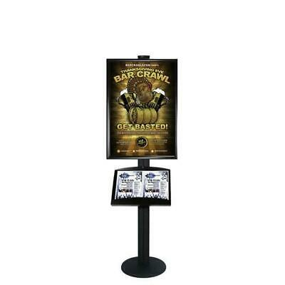 Free Standing A1 Snap Frame and Brochure Tray Restaurant Menu Display