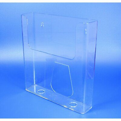 Acrylic Brochure Holder Wall Mounted A4 A5 DL Pack of 10