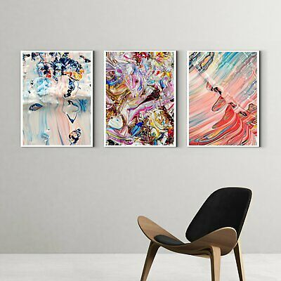 Framed Art Gorgeous abstract painting - art deco painting - living room -Multi P