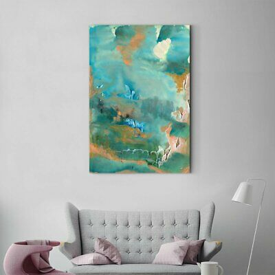 Framed Art Surrounded mountains abstract decorative painting 001