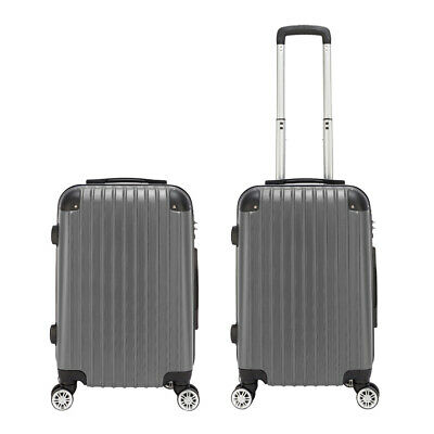 "20"" Hardshell Luggage Travel Bag ABS Trolley Suitcase 4 Wheels Case with Lock"