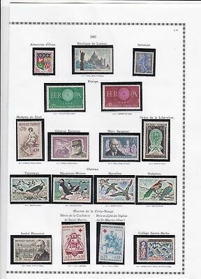 france 1961 stamps page ref 19789