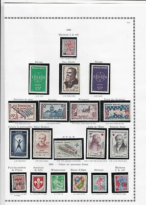france 1959 stamps page ref 19790
