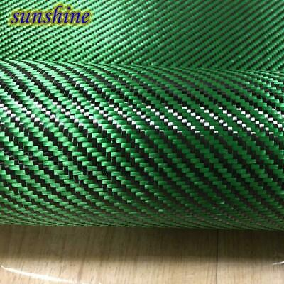 Green Carbon Aramid Fiber Hybrid Fabric Cloth 3K Carbon Fiber Green Aramid Fiber