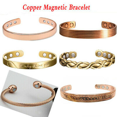 Magnetic Copper Bracelets Bracelet Bangle Arthritis Migraine Menopause Relief