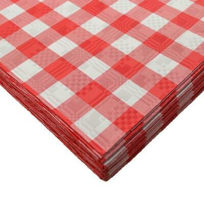 25 x Red Gingham Disposable Paper Tablecloths Covers 90 x 88cm Parties Weddings