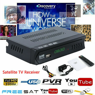HD 1080P DVB-S2 Freesat Full HD SATELLITE DIGITAL TV RECEIVER SET TOP BOX USB EU
