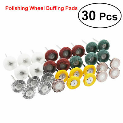30x Durable Polishing Mop Buffing Wheel Polish Pad Brush For Rotary Drill Bit UK