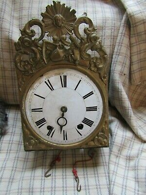 French Antique Comtoise Clock, No Bell Weights Or Pendulm