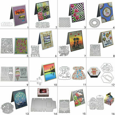 DIY Metal Cutting Dies Stencil Embossing Paper Card Scrapbooking Decor Die-Cut