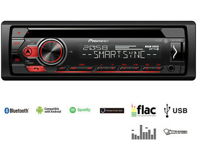 Pioneer Autoradio DEH-S310BT CD MP3 Bluetooth RDS USB AUX- Eingang 1DIN Spotify