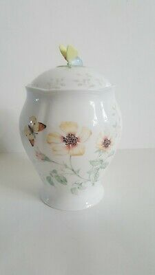 Vintage Lenox Butterfly Meadow Large Canister/Cookie Jar Mint