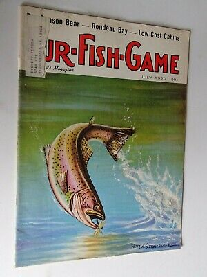 1977 vintage Fur Fish Game Magazine July issue Trout
