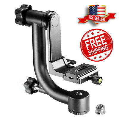 SLR Heavy Duty Metal 360 degree Panoramic Gimbal Tripod Head Quick Release Plate