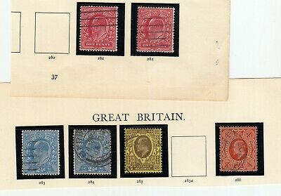 1902-1910 EDWARD 7TH specialised 15x14 Harrison set to 4d sg281-sg286